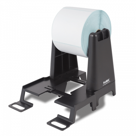 SOPUNIVNGR GODEX Soporte universal rollos hasta 250 mm. Color negro