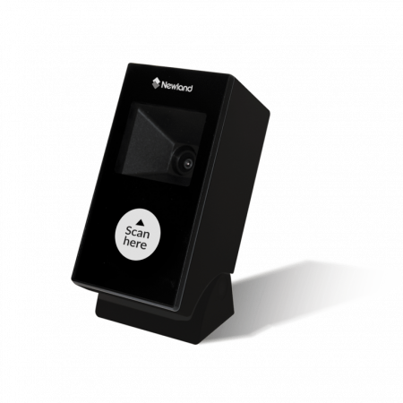FR2170-B-20 Lector de Presentacion FR21 Neon 2D CMOS 0390 CHIP + MCU, con 2 mtr. Cable USB, carcasa negra, frontal negro