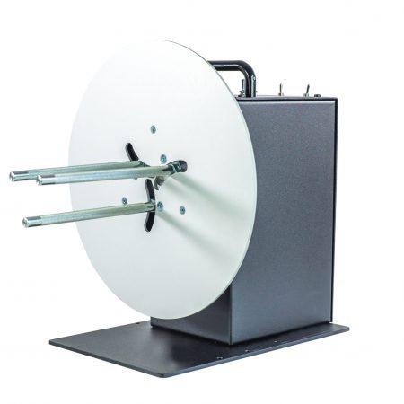 Rebobinador CAT-3-ACH maneja etiquetas de hasta 155 mm de ancho y bobina rollos de etiquetas de hasta 280 mm de diámetro