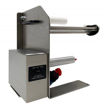 Dispensador LD-100-RS-SS Acero Inox usa un diseño del tipo «despegar y presentar» para dispensar etiquetas individuales