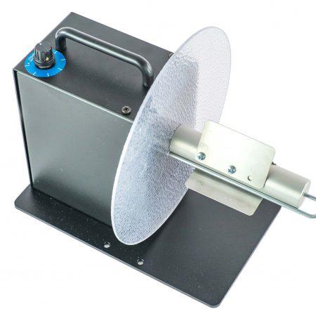 Rebobinador MC-11 maneja etiquetas hasta 115mm ancho bobina rollos hasta 220mm diámetro incluye  soporte núcleo ajustable(ACH)